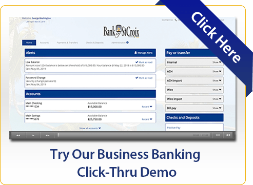 Try Our Business Banking Click-Thru Demo