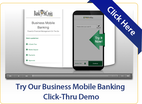 Try Our Business Mobile Banking Click-Thru Demo