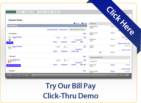 Try Our Bill Pay Click-Thru Demo